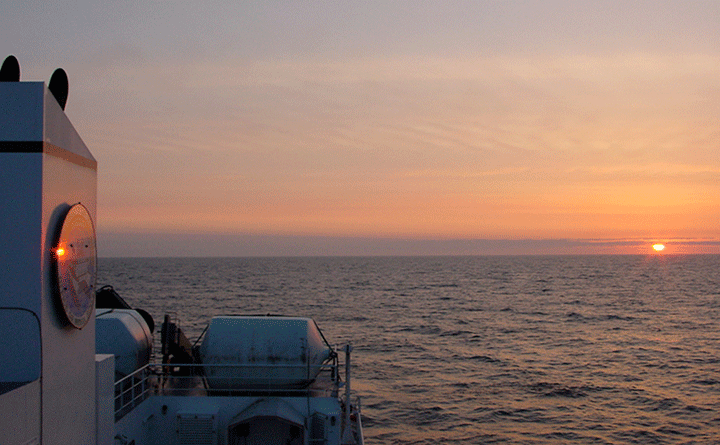 The Morel Research Group experience many amazing sunsets while at sea.